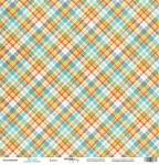Лист односторонней бумаги 30x30 от Scrapmir Клетка из коллекции Такие Мальчишки 10шт