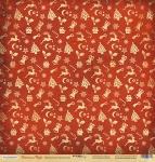 Лист односторонней бумаги 30x30 от Scrapmir Праздничное настроение из коллекции Christmas Night 10шт