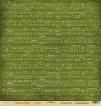 Лист односторонней бумаги 30x30 от Scrapmir Мелодия из коллекции Christmas Night 10шт