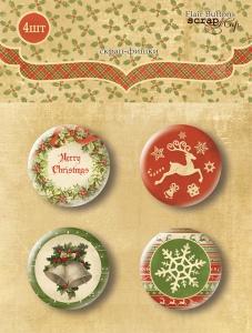 Набор скрап-фишек для скрапбукинга 4шт от Scrapmir Christmas Night