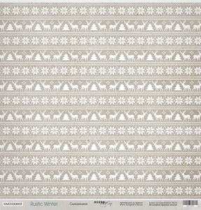 Лист односторонней бумаги 30x30 от Scrapmir Скандинавия из коллекции Rustic Winter 10шт