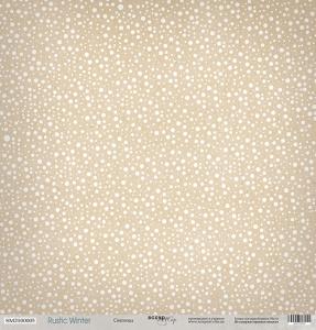 Лист односторонней бумаги 30x30 от Scrapmir Снегопад из коллекции Rustic Winter 10шт