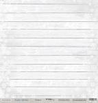 Лист односторонней бумаги 30x30 от Scrapmir Изморозь из коллекции Rustic Winter 10шт