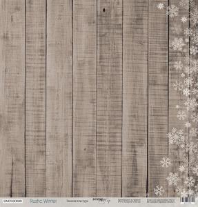 Лист односторонней бумаги 30x30 от Scrapmir Зимняя текстура из коллекции Rustic Winter 10шт