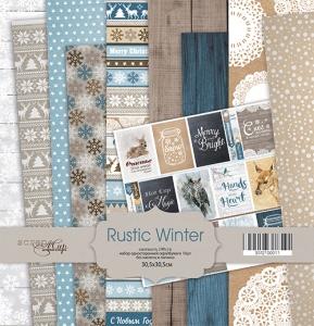 Набор односторонней бумаги 30х30см от Scrapmir Rustic Winter 10шт
