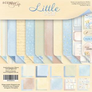 Набор двусторонней бумаги 20х20см от Scrapmir Little Bear 10шт
