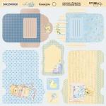 Лист двусторонней бумаги 20х20см Конверты Little Bear от Scrapmir 10шт