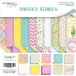 Набор двусторонней бумаги 20х20см от Scrapmir Sweet Girls 10шт