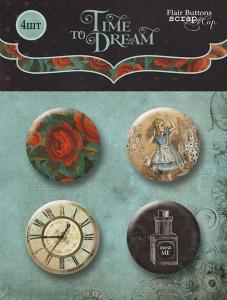 Набор скрап-фишек для скрапбукинга 4шт от Scrapmir Time to Dream