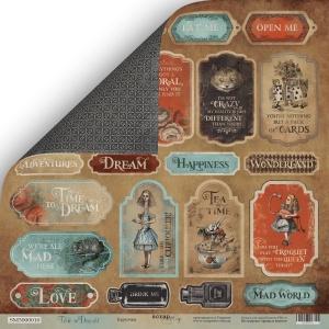 Лист двусторонней бумаги 30x30 от Scrapmir Карточки (eng.) из коллекции Time to Dream 10шт