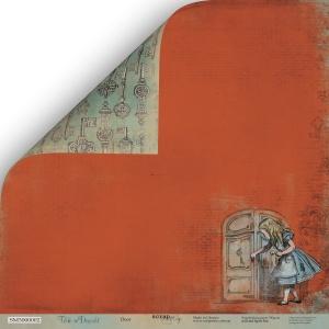 Лист двусторонней бумаги 30x30 от Scrapmir Дверь из коллекции Time to Dream 10шт