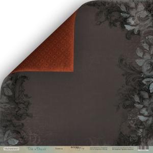 Лист двусторонней бумаги 30x30 от Scrapmir Темнота из коллекции Time to Dream 10шт