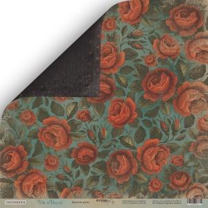 Лист двусторонней бумаги 30x30 от Scrapmir Красные Розы из коллекции Time to Dream 10шт