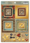Рамки из чипборда с фольгированием (золото) для скрапбукинга 30шт Time to  Dream от Scrapmir
