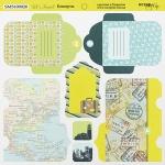 Лист двусторонней бумаги 20х20см Конверты Let's Travel от Scrapmir 10шт
