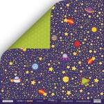 Лист двусторонней бумаги 30x30 от Scrapmir Вселенная из коллекции Ticket to the Moon 10шт