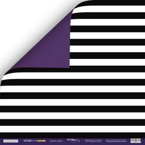 Лист двусторонней бумаги 30x30 от Scrapmir Тёмные Линии из коллекции Ticket to the Moon 10шт