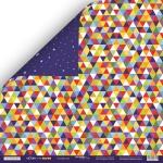 Лист двусторонней бумаги 30x30 от Scrapmir Калейдоскоп из коллекции Ticket to the Moon 10шт