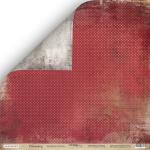 Лист двусторонней бумаги 30x30 от Scrapmir Багряное Полотно из коллекции Charming (Очарование) 10шт