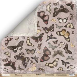 Лист двусторонней бумаги 30x30 от Scrapmir Бабочки из коллекции Charming (Очарование) 10шт