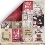 Лист двусторонней бумаги 30x30 от Scrapmir Карточки (ENG) из коллекции Charming (Очарование) 10шт