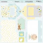 Лист двусторонней бумаги 20х20см Конверты Smile Baby от Scrapmir 10шт