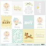 Лист односторонней бумаги 30x30 от Scrapmir Cards (ENG) из коллекции Smile Baby 10шт