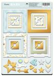 Рамки из чипборда с фольгированием (золото) для скрапбукинга 30шт Smile Baby от Scrapmir