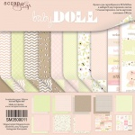 Набор двусторонней бумаги 30х30см от Scrapmir Doll Baby 10шт