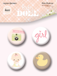 Набор скрап-фишек для скрапбукинга 4шт от Scrapmir Doll Baby