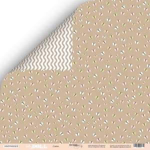 Лист двусторонней бумаги 30x30 от Scrapmir Cuties из коллекции Doll Baby 10шт