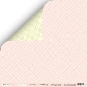 Лист двусторонней бумаги 30x30 от Scrapmir Lovely Baby из коллекции Doll Baby 10шт