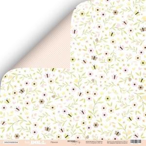 Лист двусторонней бумаги 30x30 от Scrapmir Flowers из коллекции Doll Baby 10шт