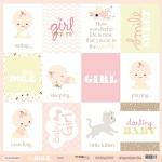 Лист односторонней бумаги 30x30 от Scrapmir Cards (ENG) из коллекции Doll Baby 10шт