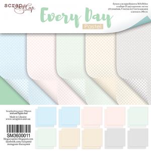 Набор двусторонней бумаги 30х30см от Scrapmir Every Day (Pastel) 10шт