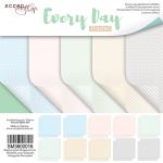 Набор двусторонней бумаги 20х20см от Scrapmir Every Day (Pastel) 10шт