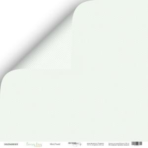 Лист двусторонней бумаги 30x30 от Scrapmir Mint Pastel из коллекции Every Day 10шт