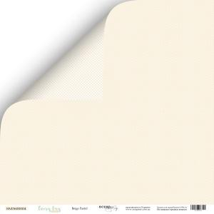 Лист двусторонней бумаги 30x30 от Scrapmir Beige Pastel из коллекции Every Day 10шт