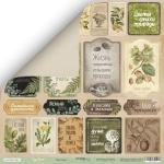 Лист двусторонней бумаги 30x30 от Scrapmir Карточки (RU) из коллекции Cozy Forest 10шт