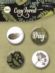Набор скрап-фишек для скрапбукинга 4шт от Scrapmir Cozy Forest