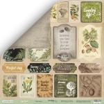 Лист двусторонней бумаги 30x30 от Scrapmir Карточки (ENG) из коллекции Cozy Forest 10шт