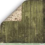 Лист двусторонней бумаги 30x30 от Scrapmir Зелёные доски из коллекции Cozy Forest 10шт