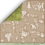Лист двусторонней бумаги 30x30 от Scrapmir Энциклопедия из коллекции Cozy Forest 10шт