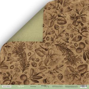 Лист двусторонней бумаги 30x30 от Scrapmir Ботаника из коллекции Cozy Forest 10шт