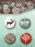 Набор скрап-фишек для скрапбукинга 4шт от Scrapmir Nordic Spirits