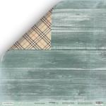 Лист двусторонней бумаги 30x30 от Scrapmir Зелёное дерево из коллекции Nordic Spirits 10шт