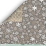 Лист двусторонней бумаги 30x30 от Scrapmir Снег кружится из коллекции Nordic Spirits 10шт