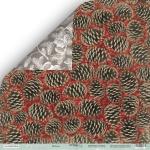 Лист двусторонней бумаги 30x30 от Scrapmir Шишки из коллекции Nordic Spirits 10шт