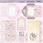 Лист двусторонней бумаги 20х20см Конверты Daddy's Princess от Scrapmir 10шт