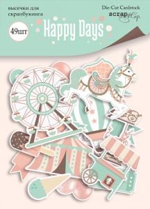 Набор высечек для скрапбукинга 49шт от Scrapmir Happy Days